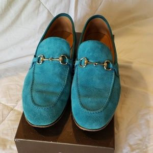Suede Gucci Power loafer sz 9